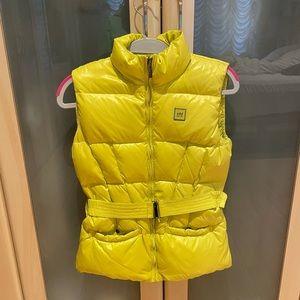 ADD Down Neon Yellow Girls Vest Size S